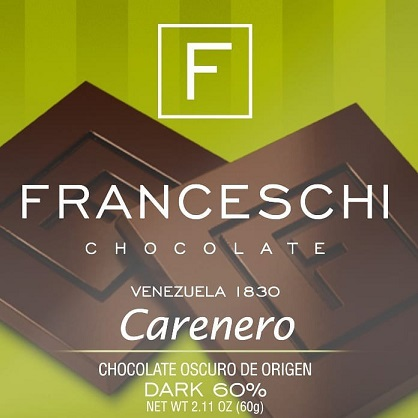 chocolate franceschi carenero 60g