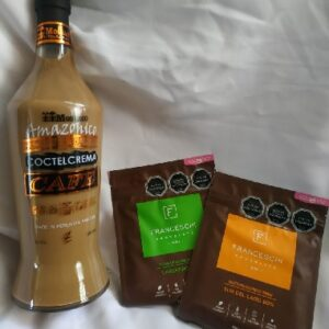 licor cafe moshaco y 2 chocolates franceschi