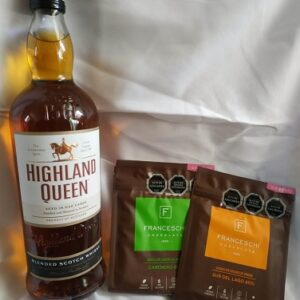 pack whisky highland queen y 2 chocolates franceschi