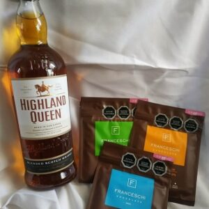 pack whisky highland queen y 3 chocolates franceschi